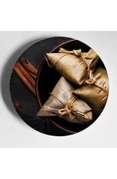 Delicious Zongzi Traditional Festival Keramikplatten Dekor Dekorationsplatten Home Wobble-Platte Mit Display Stand Dekoration Haushalt Platten Zur Anzeige
