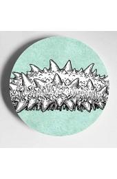 Verschiedene Unterwassertiere Bunte Keramikplatten Dekorative Platten Keramik Home Wobble-Platte Mit Display Stand Dekoration Haushalt Dekor Platten Für Die Küche
