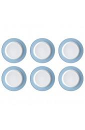 Flirt by R&B 406382 Doppio Frühstücksteller/Dessertteller Ø 20cm Porzellan Nordic blau (6 Stück)