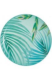 Luminarc Dessertteller Crazifolia 20 5 cm 1 Einheiten Glas blau Mehrfarbig grün 20 5cm