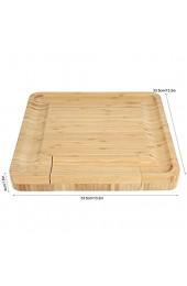 Bambus-Käsebrett Wurstplatte & Serviertablett Käsebrett und Besteckmesser-Set Geschenke für Einweihungsparty Hochzeit Geburtstage