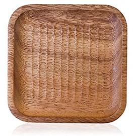 COKAMOZ 1 x Teetablett aus Holz rechteckig Dekoration für Zuhause Party Abendessen
