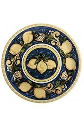 Dekorative Servierplatte 31 cm Keramik SALERNO Zitrone