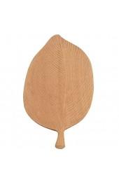 Hyjgjzjh Servierteller für Lebensmittel Teetablett Snackplatte Geschirr Haushalt Küche Zubehör Schnitzerei Blattform Holztablett