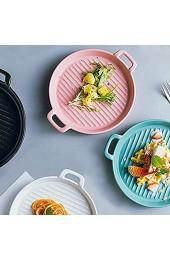 Oval Keramik Backform ZRBC Matte Backform Rundes Ohr Bakeware Haushalt Glaze Keramische Platten-Teller-8-Zoll-Set Von 4 Yy