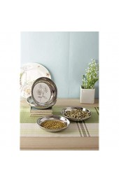 Stainless Steel Side Serving Plates Dishes Silver Set of 6