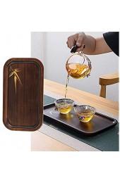 Teeteller Bambus-Servierteller Haushaltsdekoration für das Frühstück zu Hause(small)