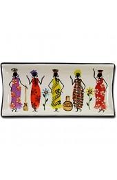 Kapula Rechteckige Schale \'African Ladies\' 26 x 12 cm