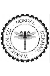 Steingut Kuchenteller anthrazit mit hellgrau Kleiner Teller von NORDAL 22 cm