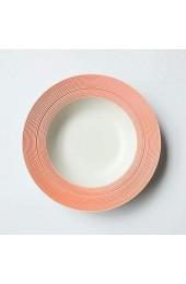 Flying Saucer Disc Brushed Style Teller Deep Dish Suppenteller Straw Hat Disc Italian Pasta Dish Suppenteller Bibimbap Teller Bake Pink