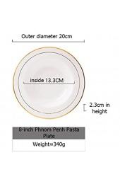 Mettime Pastateller Groß Suppenteller Oder Speiseteller Nordisches Keramikgeschirr Salatschüssel Macaron Suppenschüssel Strohhutplatte-2 Größe