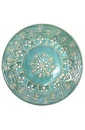 Mino Ware Japanese Pasta Bowl Rice Soup Sarada Curry Rice Moroccan Design 8.1 inch Green