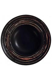 MX kingdom Pastateller Groß Suppenteller Oder Speiseteller Nordisches Keramikgeschirr Salatschüssel Macaron Suppenschüssel Strohhutplatte-Black