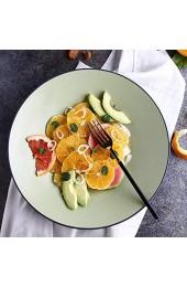 Teller Europäischen Stil Grün Keramik Geschirr Haushalt Italienische Pasta Dish Deep Dish Obstsalat Teller Grün 12 Zoll