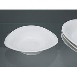 Urban Lifestyle 4 x Pastateller/tiefer Teller Porzellanteller oval Palermo B-Ware mit kleinen Glasurfehlern.