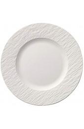 Villeroy und Boch Manufacture Rock Blanc Frühstücksteller (22 cm) Premium Porzellan Weiß