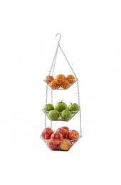 Mack - Hängender Obstkorb/Gemüsekorb aus Metall   Küchenampel für mehr Platz auf Ihrer Arbeitsplatte als 3-teiliges Set