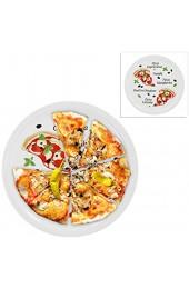 2er Set Pizzateller Margherita groß - 30 5cm Porzellan Teller mit schönem Motiv - für Pizza / Pasta den 'großen Hunger' oder zum Anrichten geeignet
