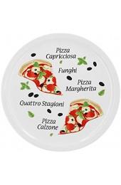 4er Set Pizzateller Margherita groß - 30 5cm Porzellan Teller mit schönem Motiv - für Pizza / Pasta den 'großen Hunger' oder zum Anrichten geeignet