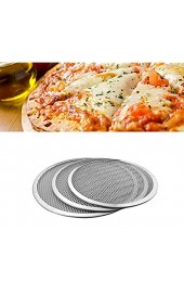 BESTONZON Aluminium Pizza Bildschirm Pizza Pfannennetz Pizza Backform knuspriger Pizza Backnetz (13 Zoll)