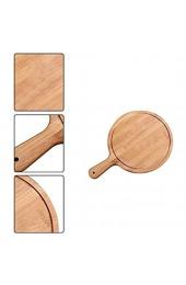 Fablcrew Pizzaschneider rund aus Holz für Pizzas und Tarten 17 8 cm (7 Zoll) Serviertablett mit Griff