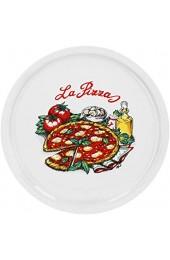 Pizzateller Napoli groß - 30 5cm Porzellan Teller mit schönem Motiv - für Pizza / Pasta den 'großen Hunger' oder zum Anrichten geeignet