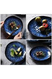 YARNOW Keramik Matte Abendessen Platten Porzellan Runden Teller Tellern für Salat Pie Steak Pizza Pasta Restaurant 8 Zoll