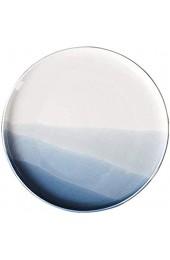 ZHEYANG Pizza Teller Pizza Tablett for Oven Pizza Fach Keramik Pizza Dish Blau (Farbe : Blue Größe : 25.2 * 2.3cm)