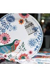 zvcv Cerami-Schüssel nach japanischer Art Home Pasta Tray Steakplatte Obst- und Gemüsesalatplatte Eisdessertteller Küchenbesteckplatte Pizzateller Bird Western Dish Plate (Farbe: Farbe Größe: 2
