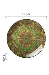 IHZ Unterglasurplatte im europäischen Stil grüne handbemalte Vintage-Platte (8 5 Zoll) Keramikplatte