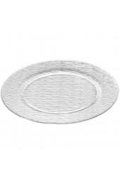 Leonardo City Platz-Teller runder Glas-Teller transparenter Speise-Teller aus Glas 6er Set Ø 310 mm 080164