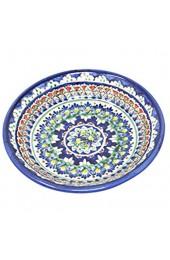 Madacha Set von 2 Keramikgeschirr Rishtan. Handgemalte typische und traditionelle Motive Dieser Region Usbekistans. Durchmesser 20 cm.