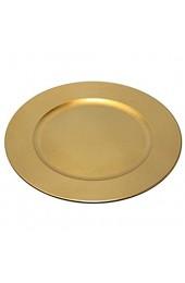 TAMLED Platzteller used look Dekoteller gold wiederverwendbarer Kunststoff