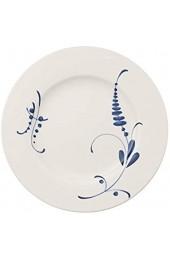 Villeroy & Boch Vieux Luxembourg Brindille Geschirr aus hochwertigem Premium Porzellan in Blau und Weiß 27 cm Speiseteller
