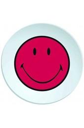zak! Designs 6662-0323 Smiley Teller Tief 20 cm Grenadine/weiß