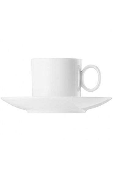 6 x Kaffeetasse 2-tlg. - Loft by Rosenthal Weiß - Thomas - 11900-800001-14740