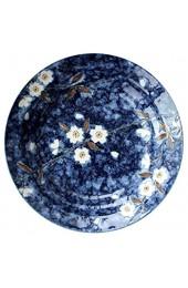 DAGONGREN Keramik Salatteller for Salat Vorspeise Mikrowelle & Spülmaschine Kirsch Porzellan Pie Dish Pan (Color : B)