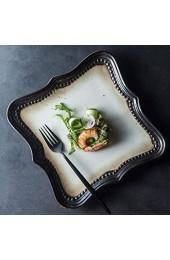 DAGONGREN Teller European Ceramic Geschirr Klassische Elegante Steak-Platte Sifang Platte westliche Teller Snack Teller Salat Pastateller