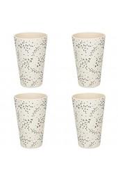 KitchenCraft Natural Elements Bambus-Tassen-Set Bambusfaser Spachtelgrau 450 ml 4-teilig