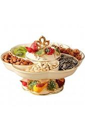 N/Z Life Equipment Europäische Obstteller Große Keramik Candy Plate Getrocknete Obstteller Haushalt Couchtisch Dekorationen