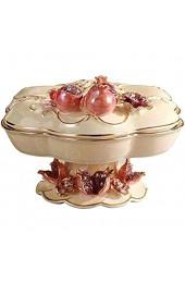 N/Z Life Equipment Getrockneter Obstteller Keramikfach Mit Deckel Getrockneter Obstkasten Candy Melon Seeds Snack Plate Obstteller Home
