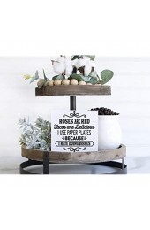 Not Branded Roses are red Tacos are delicious I use paper plates because I hare doing dishes - Funny Kitchen Wood Sign -