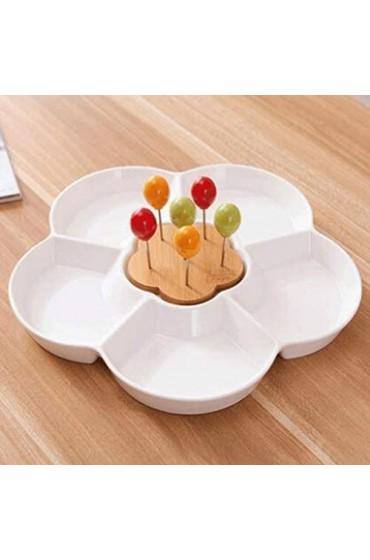 SHYPT Kreative Keramik Haushalt einfache Obstteller Dessertteller Salatteller Wohnzimmer Dessert getrockneten Obstteller