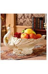 TongN Kreative europäische Obstteller Keramik Crafts Kaffee Tischdekoration Mutter Teller Süßigkeit Teller (Size : L)