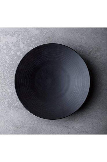 zvcv Japanische Art Cerami Keramik Flache Platte Home Platte Restaurant Gericht Steak Platte Faden Salatteller Obstteller Gebäckplatte Ramen Salat Suppe Obstschale