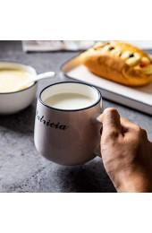 zvcv Keramikkeramikgeschirr im japanischen Stil Home Breakfast Besteckset Kreative Suppenschüssel Einfarbige Tasse Quadratischer Salatteller Ramen-Salatsuppe Obstschale