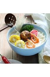 zvcv Keramikschale im japanischen Stil Keramikschale Keramikschale Japanisches Familienrestaurant Ramen Dish Salatteller Tablett Hellblaues Geschirr 17x8cm Ramen Salatsuppe Obstschale