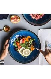 zvcv Keramiksuppenteller Obstsalatteller Creative Western Dish Deep Dish 9 Zoll