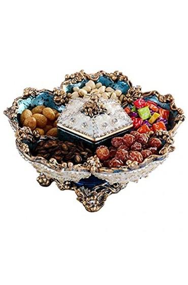 zvcv Snack Fruit Plate Europäische Trockenfruchtplatte Candy Box Kreative Snack-Fach Gitter Nuss Teller Dekoration