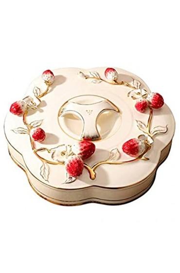 zvcv Snack Obstplatte Europäische Trockenfruchtplatte Kreative Keramik Candy Plate Haushalt Getrennte Snackplatte Melonensamenbox